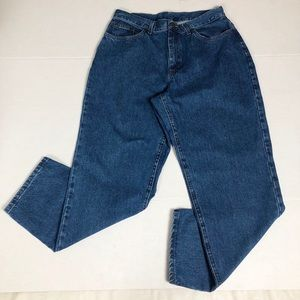 LL Bean Double Relaxed Fit High Waisted Jeans 14R
